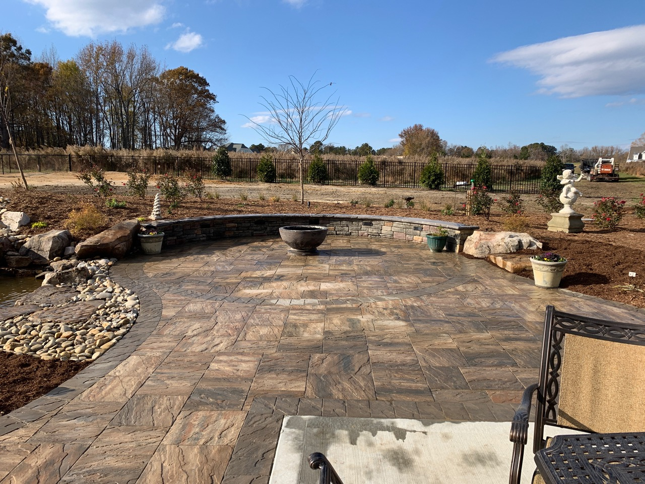 Stone Patio Curved Edges