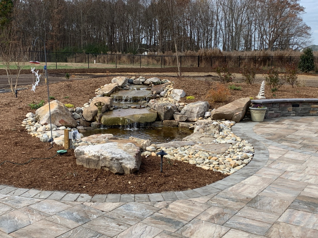 Cascading Water Garden and Patio