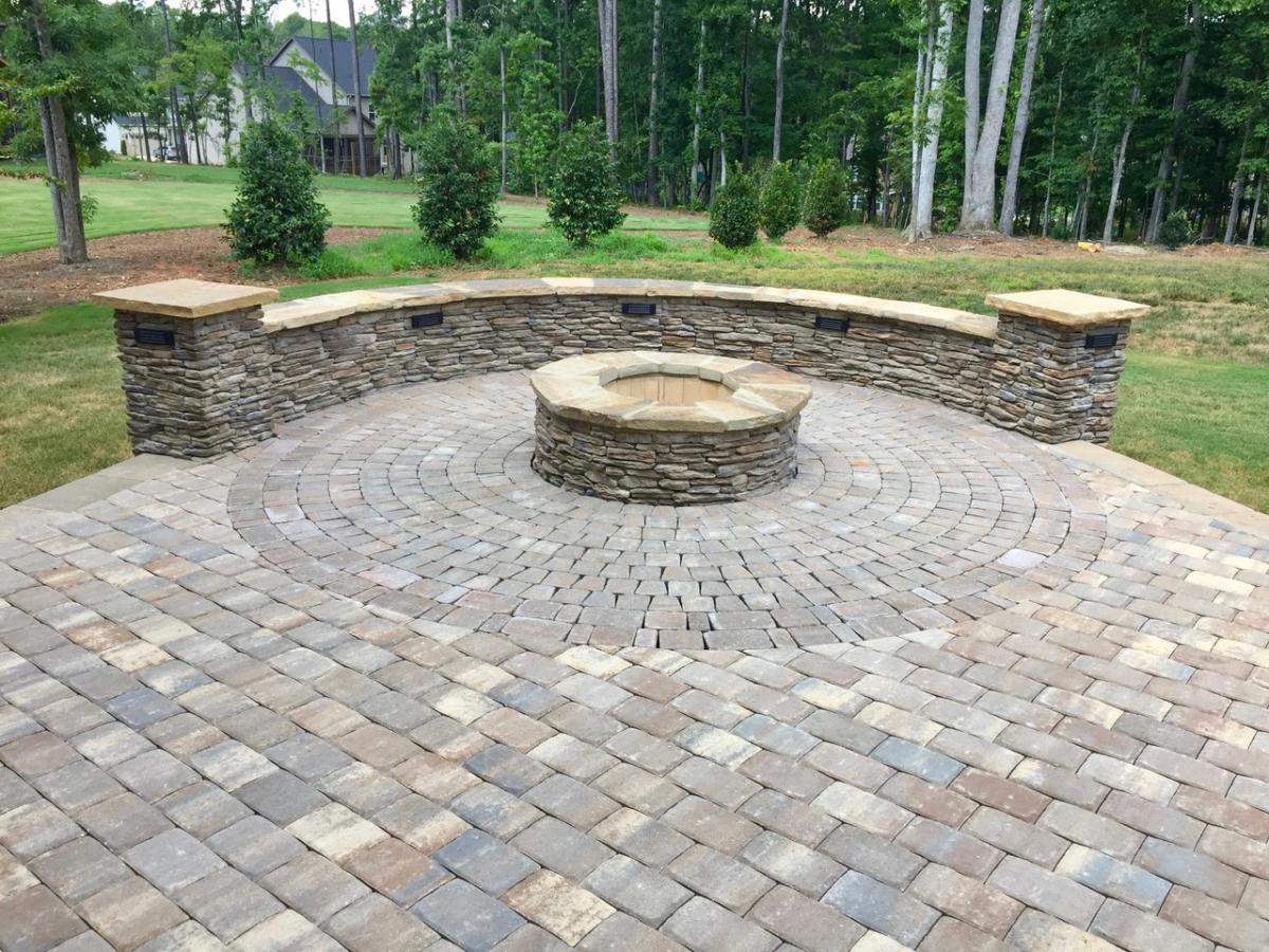Firepit with Encircling Patio