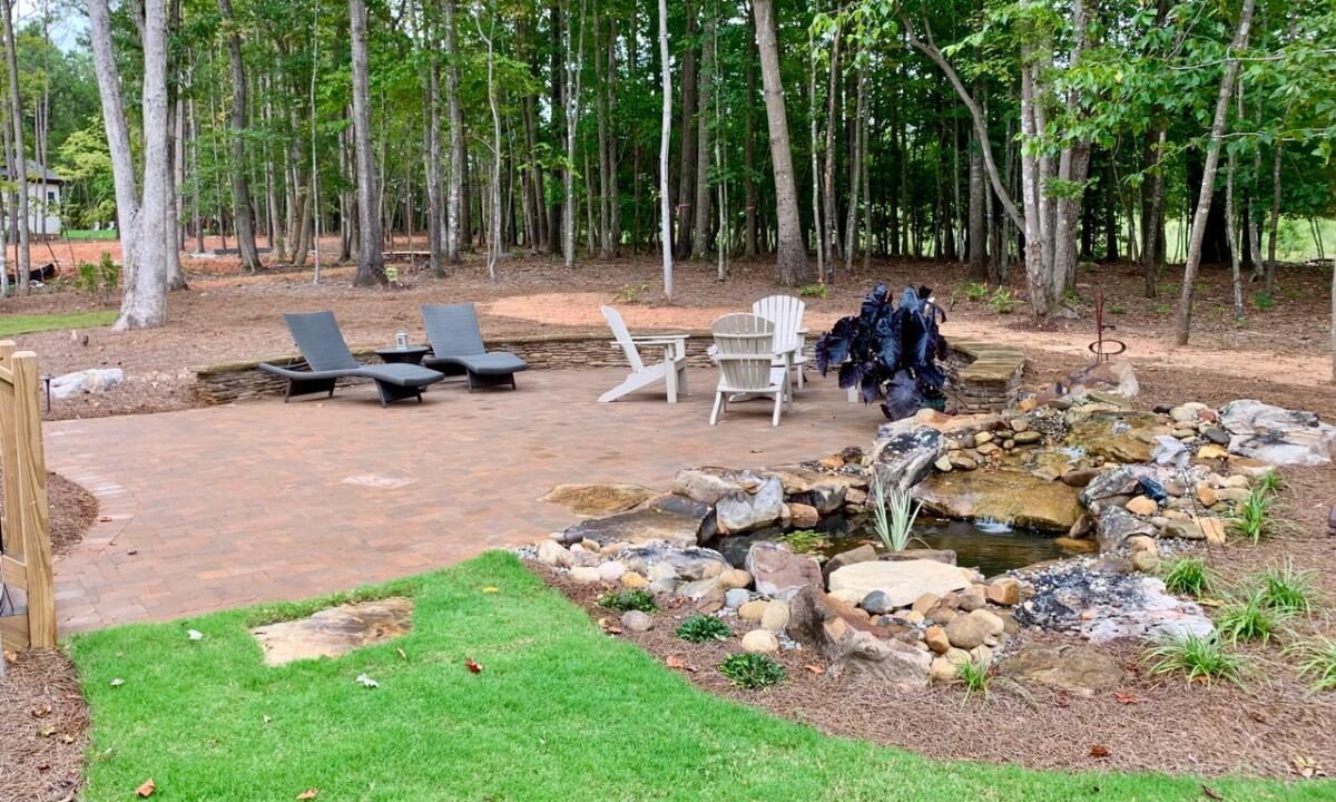 Patio and Pond