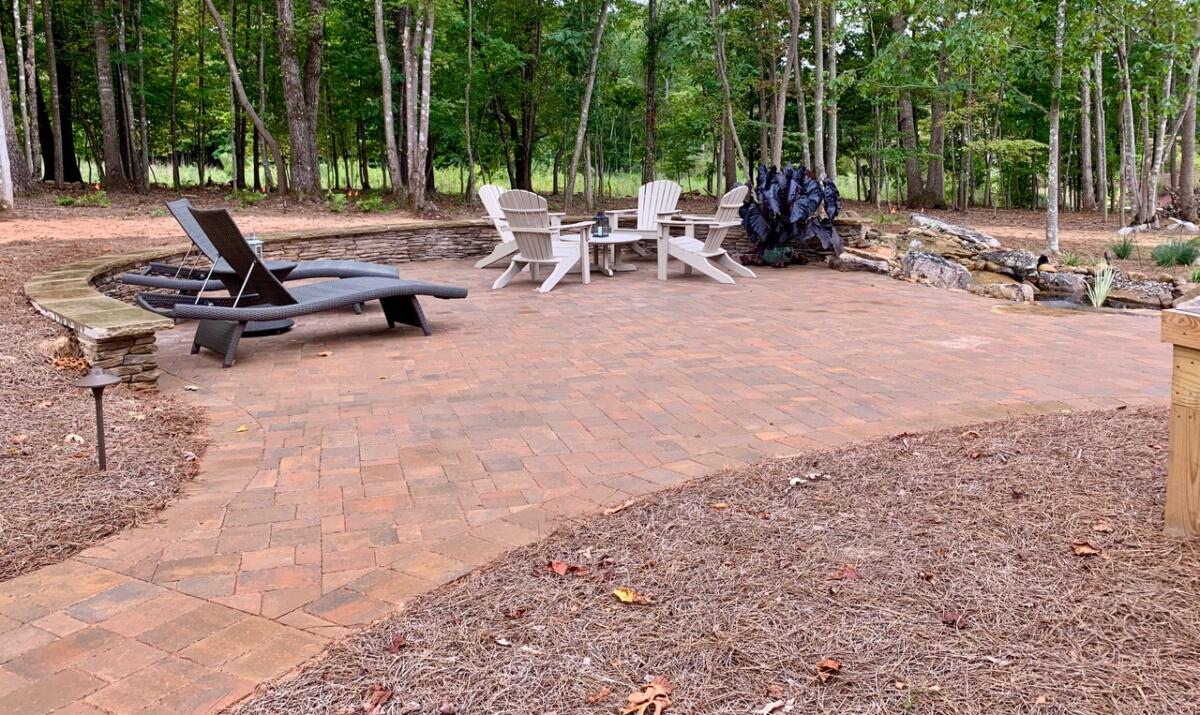 Stone Paver Patio and Walkway
